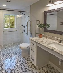1.01.Calacatta Labrinto procelain Mosaic Floor_Germantown_Robbins Construction