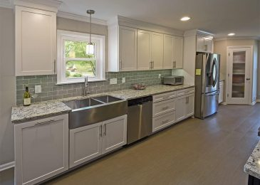 kabinart arts and crafts aspen white remodel in germantown