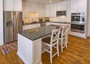 monochromatic stainless stell robbins construction remodel