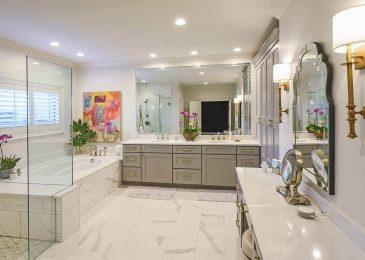beautiful bathroom remodel by robbins construction