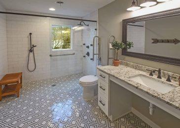 MARY_K1.01.Calacatta Labrinto procelain Mosaic Floor_Germantown_Robbins Construction