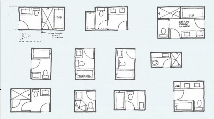 bathroom layouts for two
