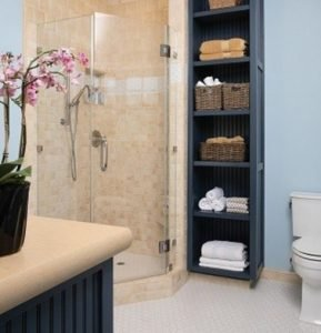 partitioning storage space in your bathroom