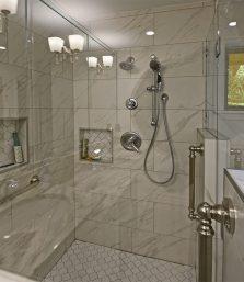 Delta Lahara Shower Fixture_FL06 12x24 Gloss - Daltile_Germantown_Robbins Construction